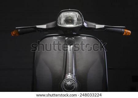 Scooter front - stock photo