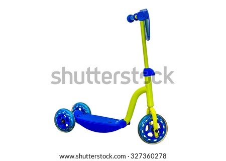scooter isolated on white background - stock photo