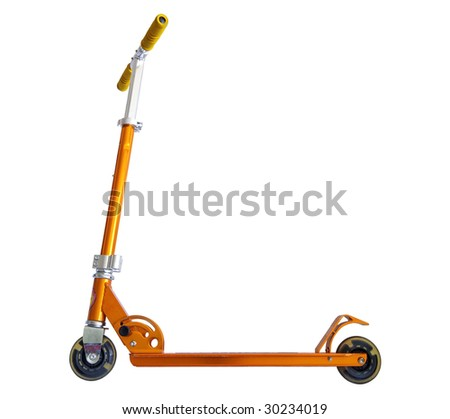 scooter isolated with clipping path - stock photo