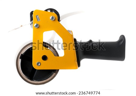 Scooter with parcel tape - stock photo