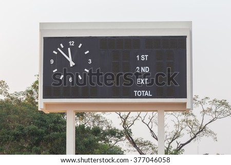 Score Board - stock photo