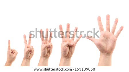 Score on the finger. - stock photo