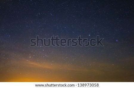 scorpio constellation on a night sky - stock photo