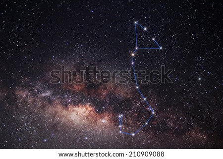 Scorpius constellation The stars in the Milky Way - stock photo