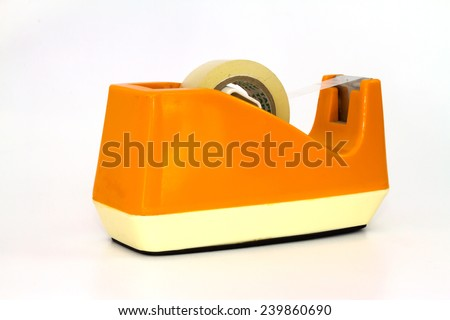 Scotch tape podium - stock photo