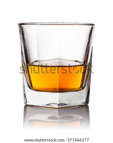 scotch whiskey on a white background