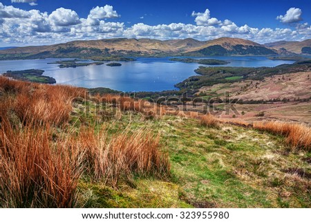 Scotland: beautiful natural landscape - stock photo