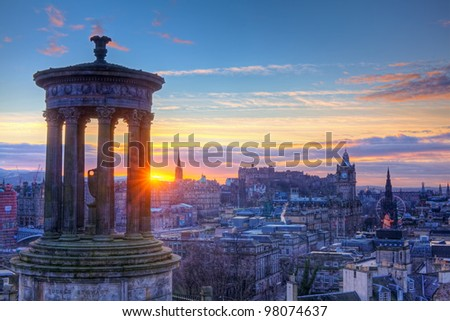 Scotland Edinburgh Calton Hill