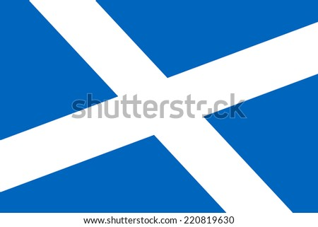 Scotland Flag. Close up.