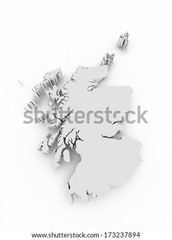 Scotland grey on white isolated - stock photo