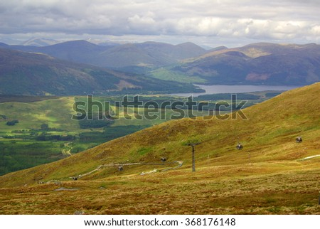 Scotland, West Highlands (Ben Nevis, near Fort William): view from the mountain - stock photo