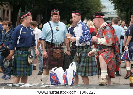 Scotsmen in Lithuania - football fans