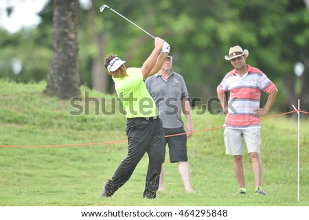 Scott Barr of Australiain action during round one of the King's Cup at Phoenix Gold Golf and Country Club on July 28, 2016 in Pattaya, Thailand.