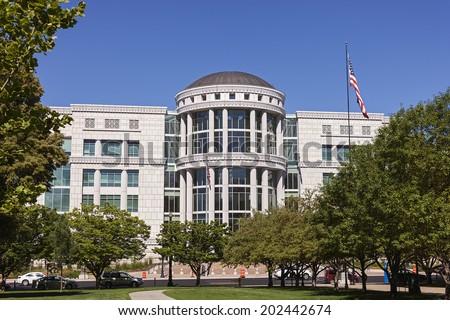 Scott M. Matheson Courthouse in Downtown Salt Lake City, Utah - stock photo