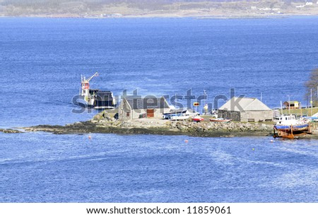 Scottish Highland ferry and terminal