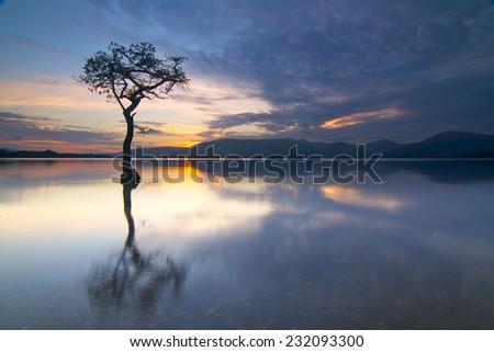Scottish Highland Sunset - stock photo