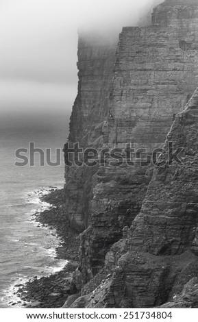 Scottish landscape in Orkney. Hoy cliffs. Scotland. UK - stock photo