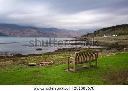 Scottish landscape - Isle of Mull - Inner Hebrides of Scotland - stock photo
