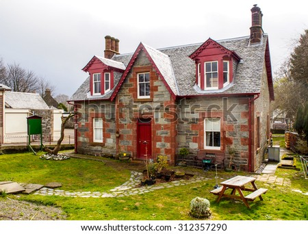 Scottish style lovely house in Luss villege Scotland, UK