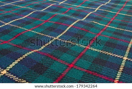 Scottish tartan background - stock photo