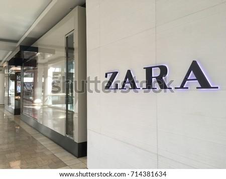 SCOTTSDALE, ARIZONA, SEPT 9, 2017: Zara Retail Store