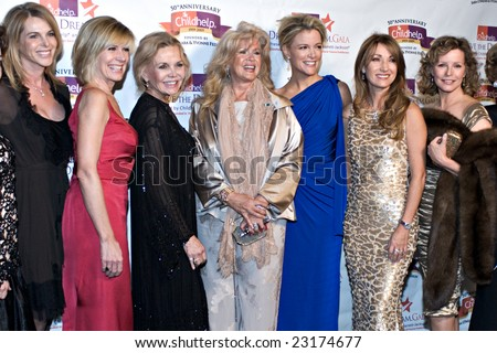 SCOTTSDALE, AZ - JANUARY 10: Catherine Oxenberg, Debby Boone, Connie Stevens, Megyn Kelly, Jane Seymour, Cheryl Ladd at the Childhelp Gala on January 10, 2009 in Scottsdale, AZ.