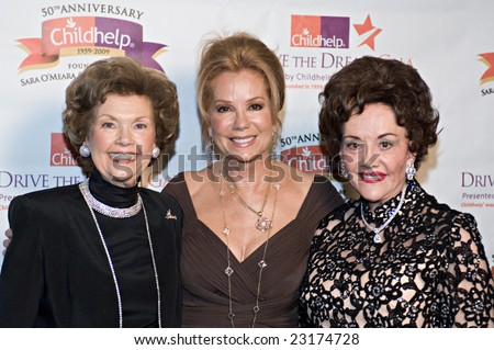 SCOTTSDALE, AZ - JANUARY 10: Sara O'Meara, Kathie Lee Gifford, and Yvonne Fedderson at the Childhelp Drive the Dream Gala on January 10, 2009 in Scottsdale, AZ.