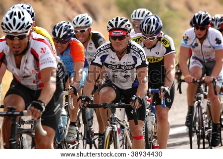 SCOTTSDALE, AZ - OCTOBER 4: Many cyclists challenged themselves on the 70-mile course during the 6th annual Tour de Scottsdale benefiting the McDowell Sonoran Conservancy on Saturday October 4, 2009