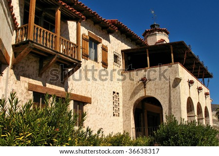 Scotty's Castle in Death Valley National Park, USA - stock photo