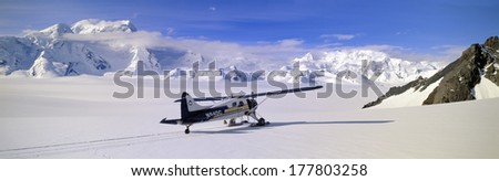 Scout bush airplane, Wrangell-St. Elias National Part, Alaska - stock photo