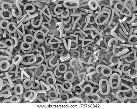 scrambled numbers - stock photo