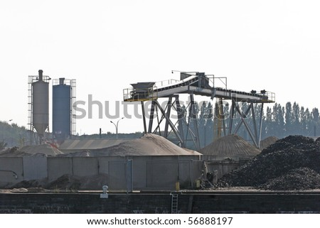 Scrap, industrial site - stock photo
