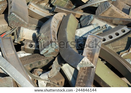 scrap iron backdrop - stock photo