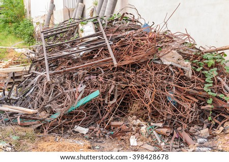 Scrap Metal and household waste  - stock photo