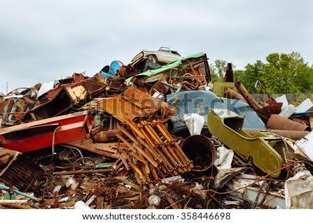 Scrap metal dump - stock photo