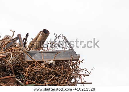 scrap- metal isolated on the white background - stock photo