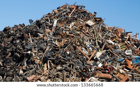 Scrap metal ready to be recycled.