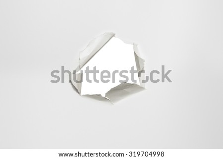 scrap of paper, on white sheet, horizontal photo - stock photo