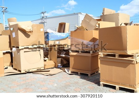Scrap paper box from industrial - stock photo