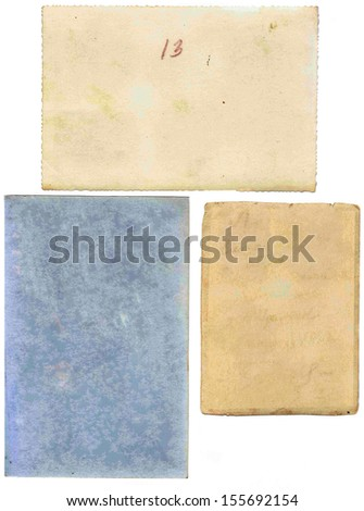 Scrapbooking kit: old paper - stock photo