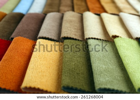 Scraps of colored tissue close up - stock photo