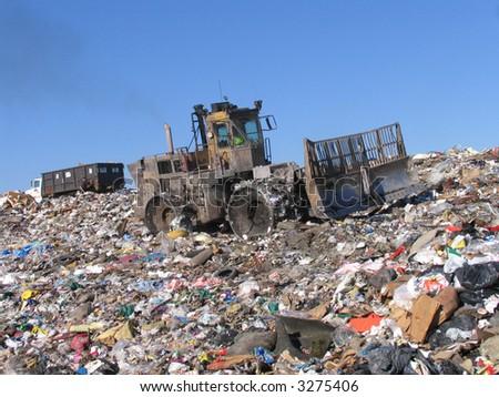 scrapyard scenery - stock photo