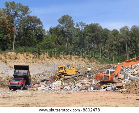 scrapyard scenery - stock photo