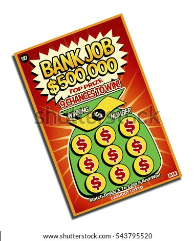 Scratch off win lottery ticket isolated stock illustration scratch off and win lottery ticket isolated on white background sciox Images