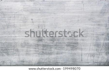 scratch on aluminium texture background - stock photo