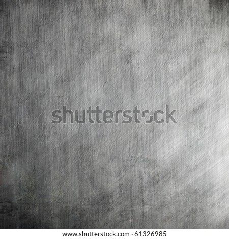 Scratched aluminum metal plate