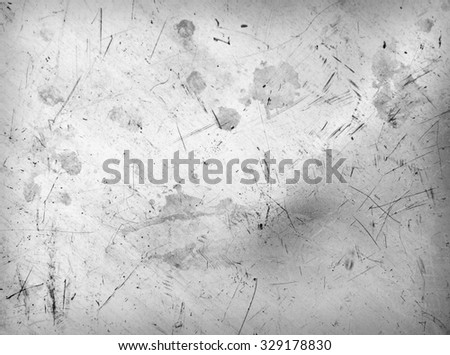 Scratched and spotted a metal aluminium sheet - stock photo