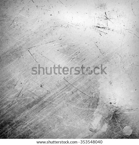 Scratched and spotted a metal sheet - stock photo