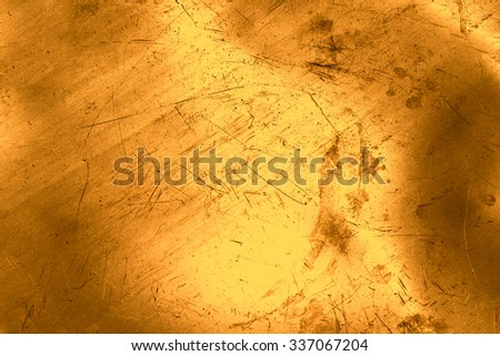 Scratched and spotted luxury gold background - stock photo