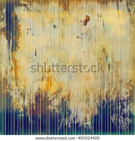 Scratched background with retro style overlay. Aged texture with different color patterns: yellow (beige); brown; blue; gray; cyan - stock photo